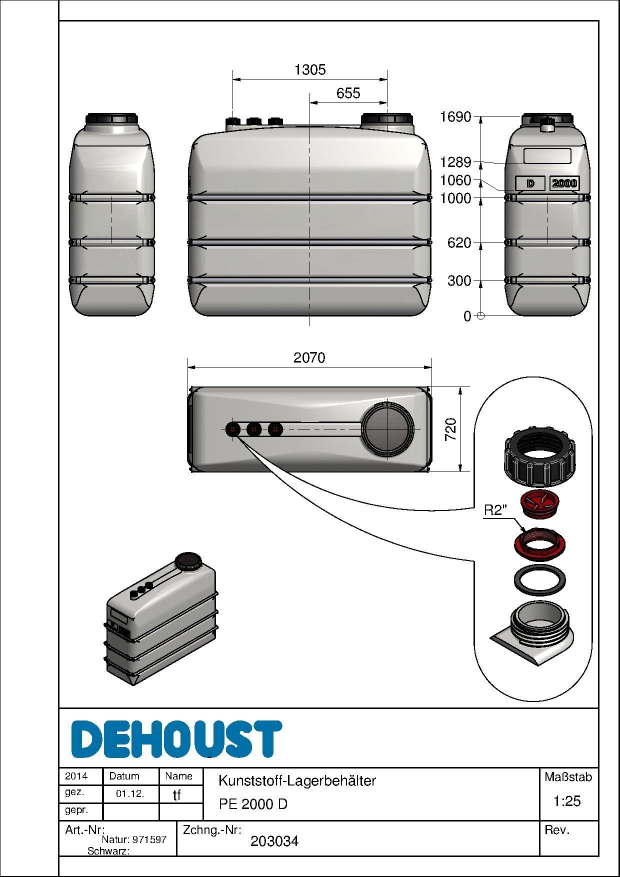 rysunek techniczny pe 2000 d