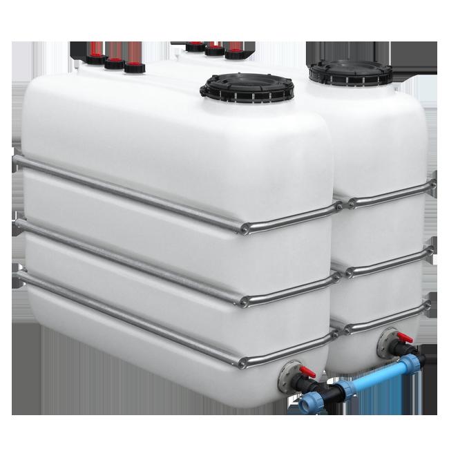 Zbiorniki na wodę typ DF + przyłącza